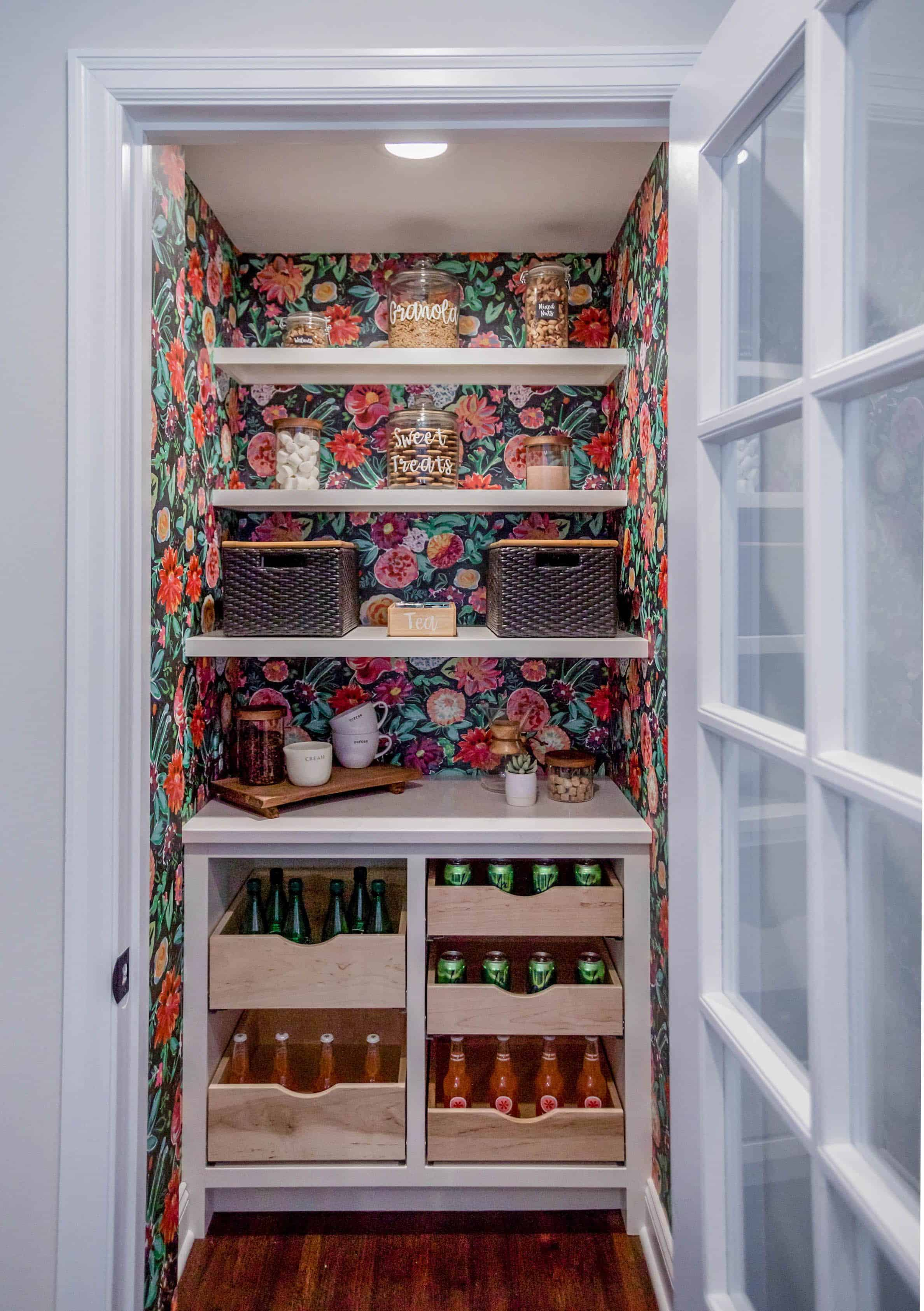 wallpapder with pantry