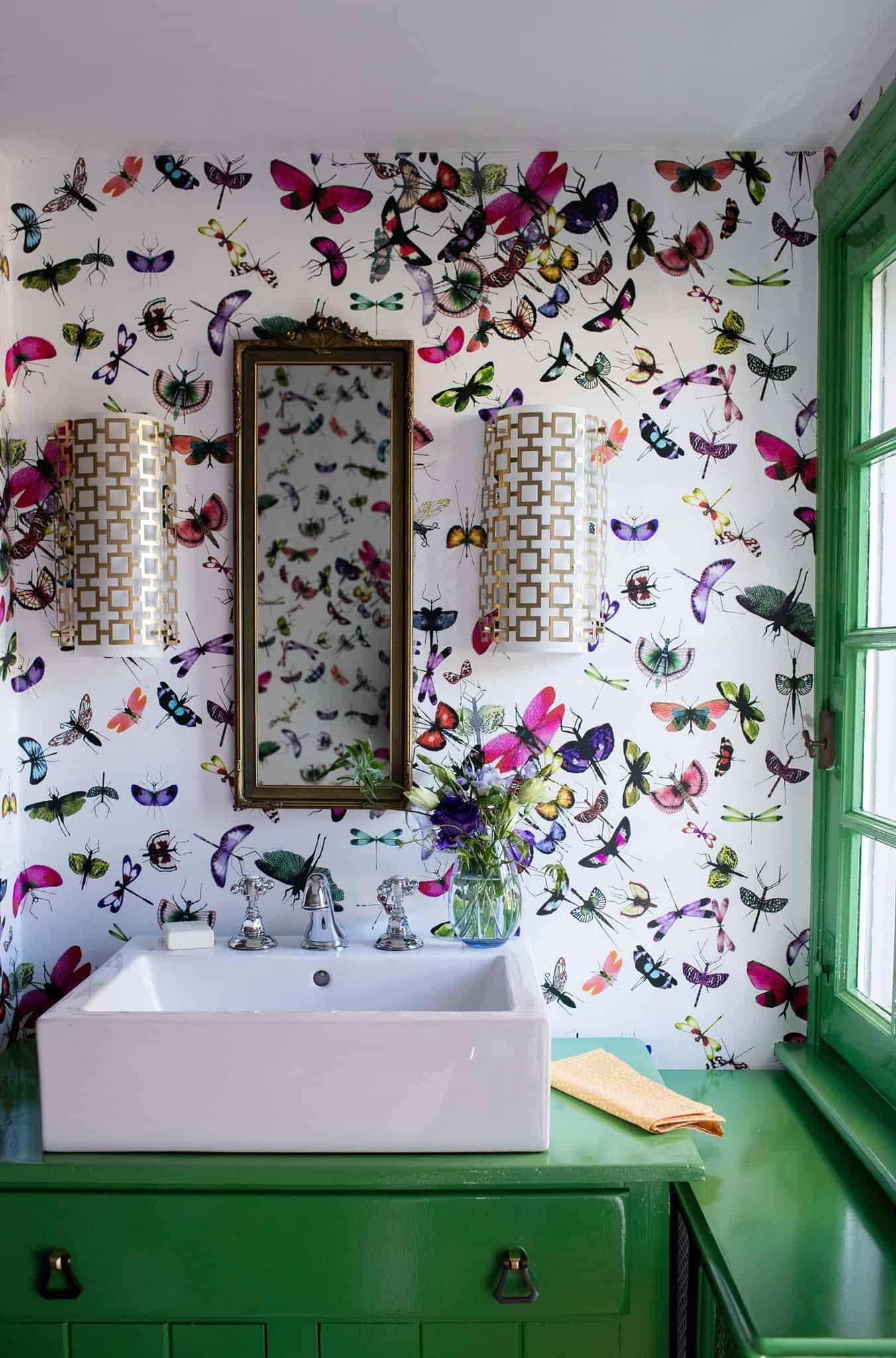 bathroom with wallpaper Top Decorating Tips Designers Swear By