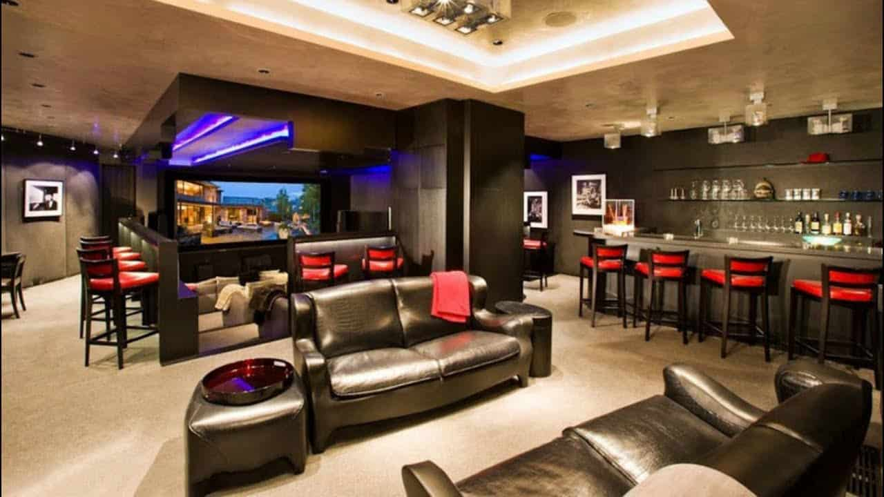 man cave luxury