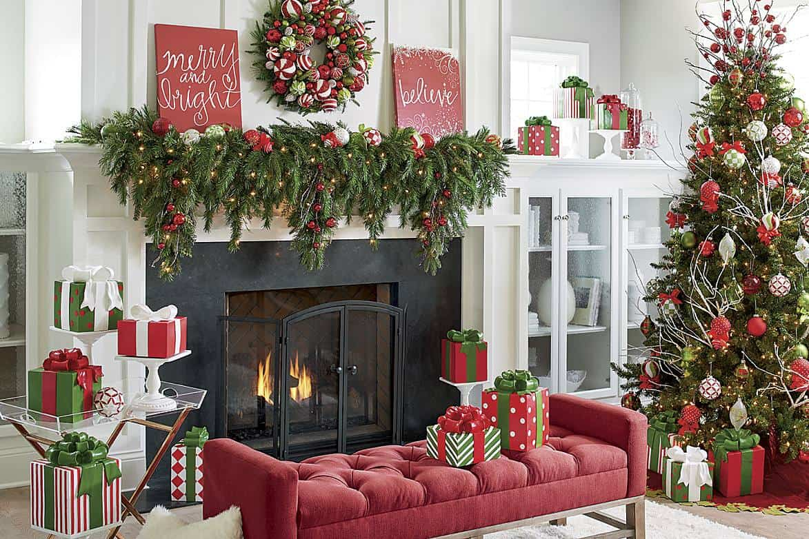 mantel with color