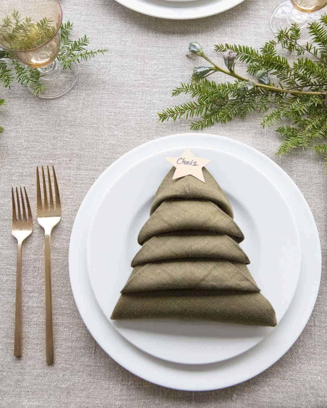 xhrisrnas tree napkins