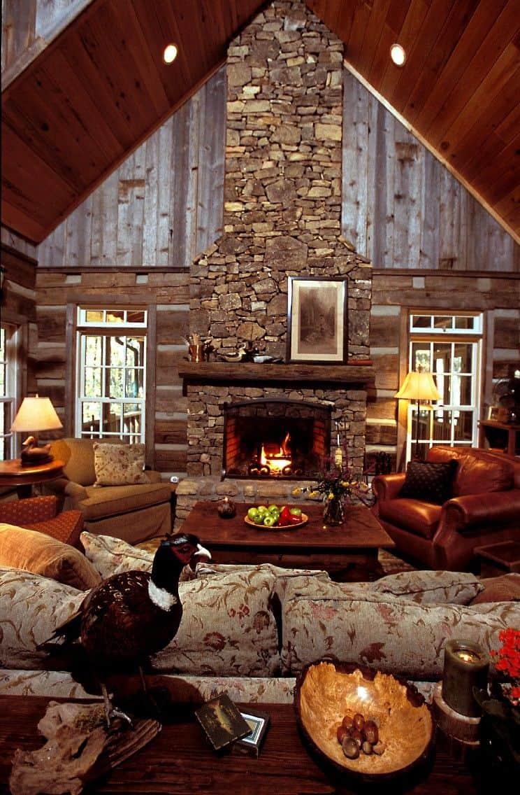 bold cabine fireplace