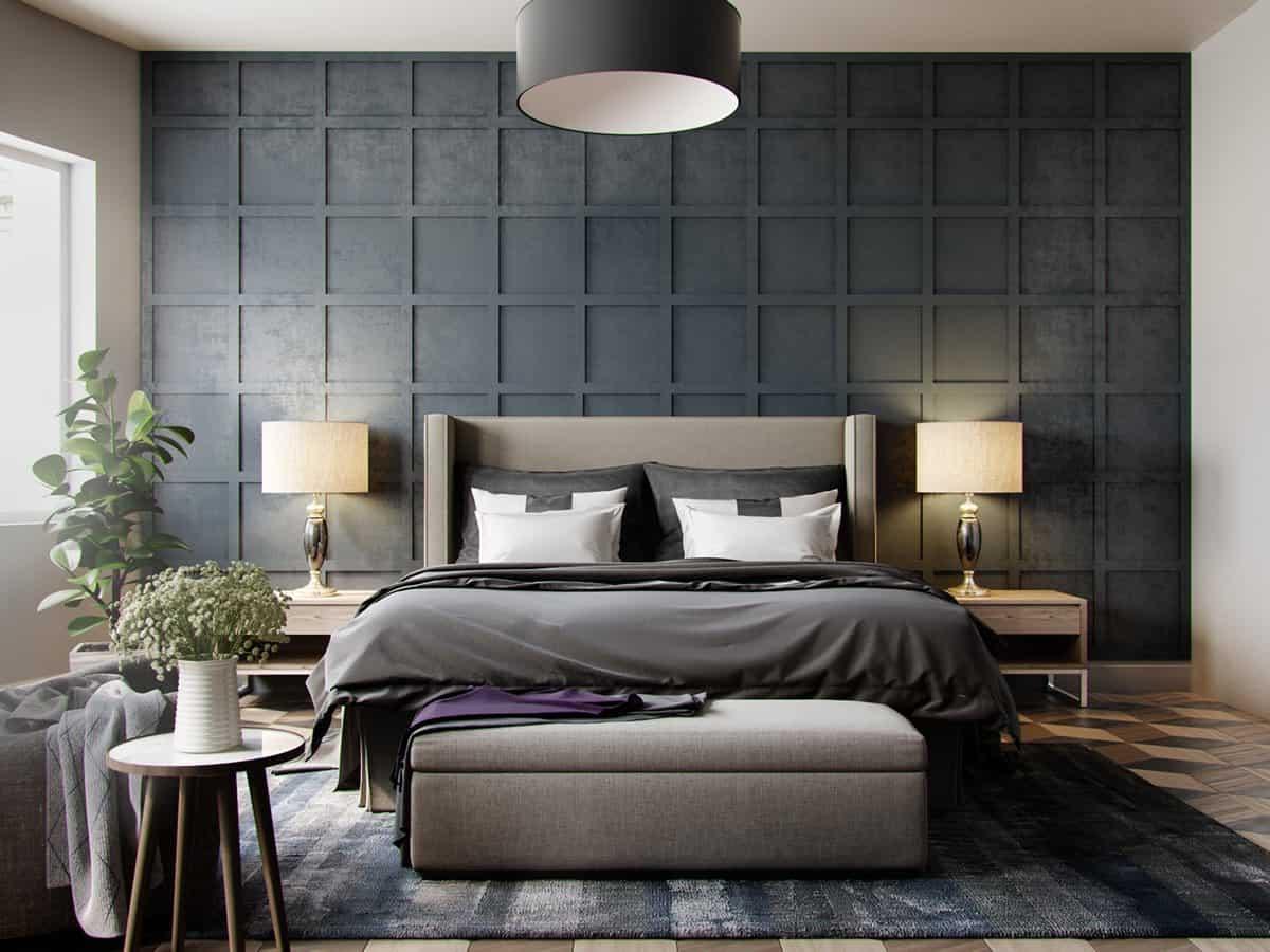 dark gray in bedroom