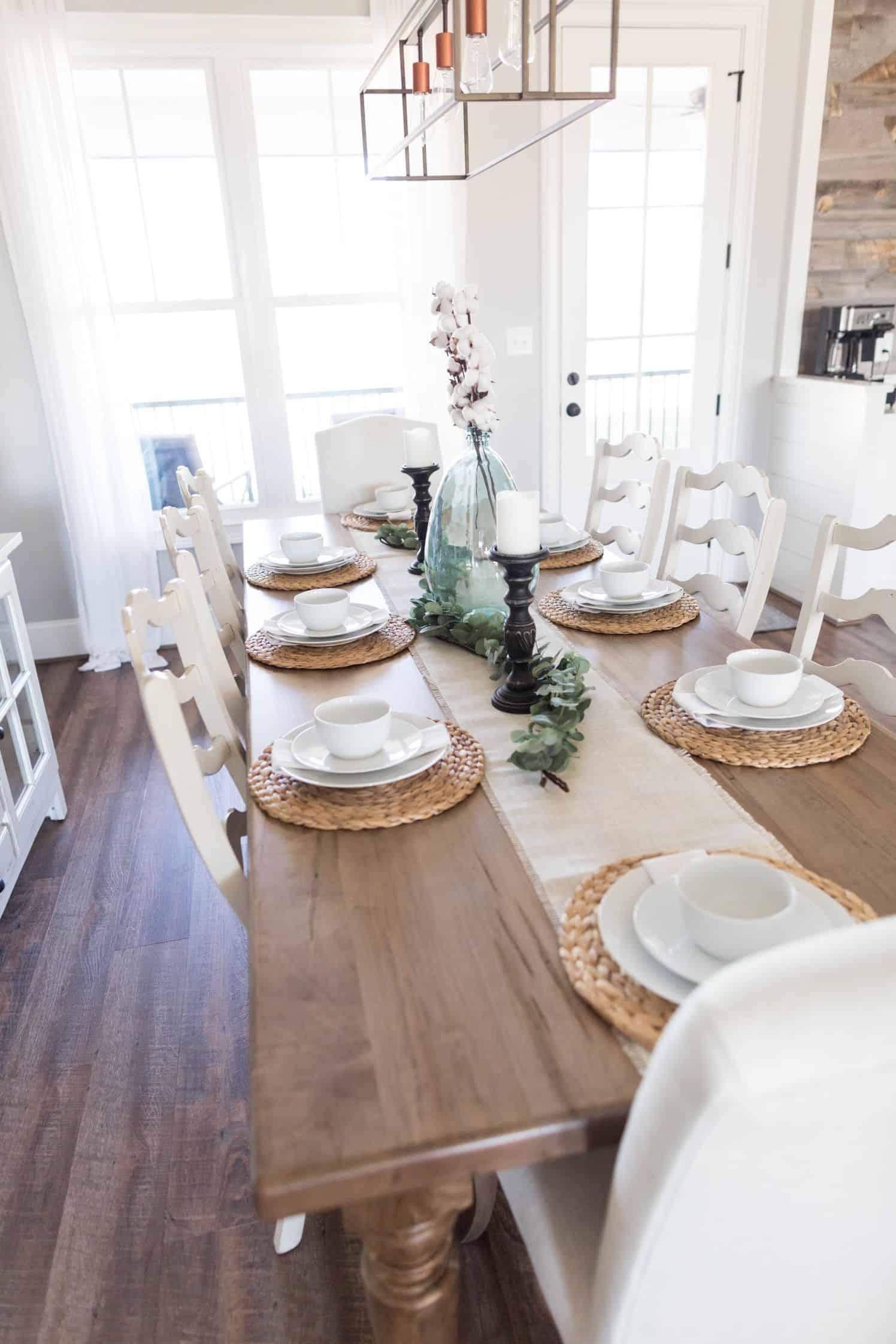 decorated farmhouse table