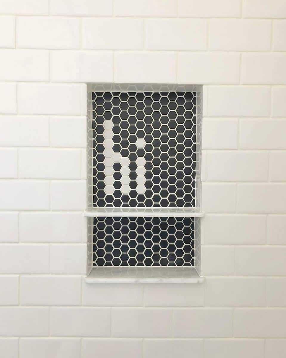 design tiles make the room feel sleek