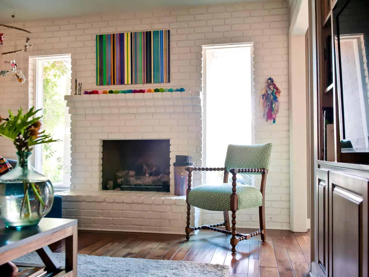glossy fireplace