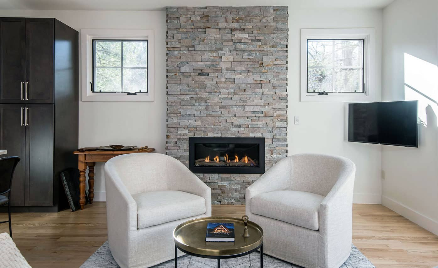 gray fireplace stone