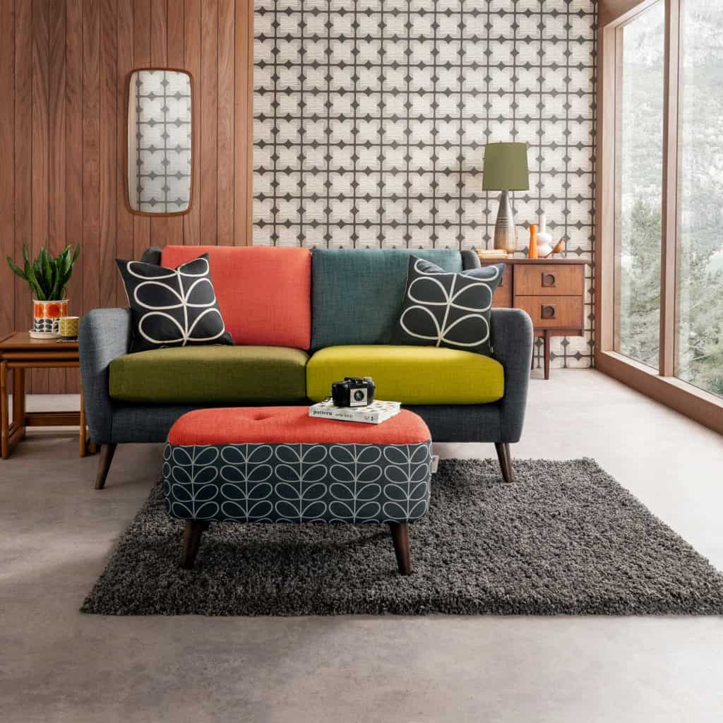 mid-century with pattern