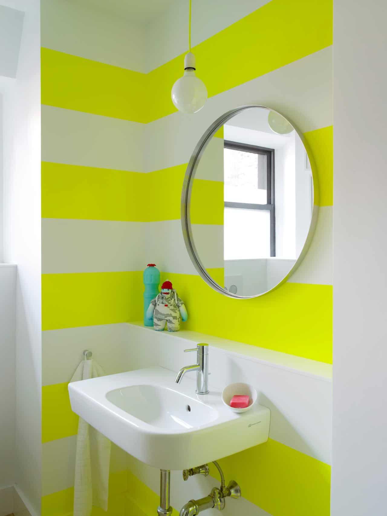 neon yellow walls