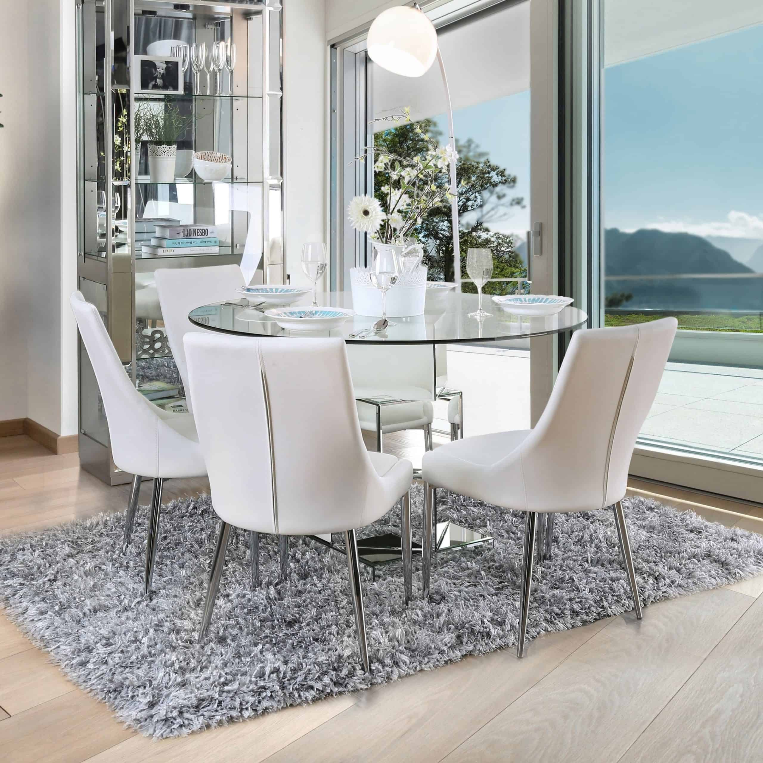 whtie contemporary dining room