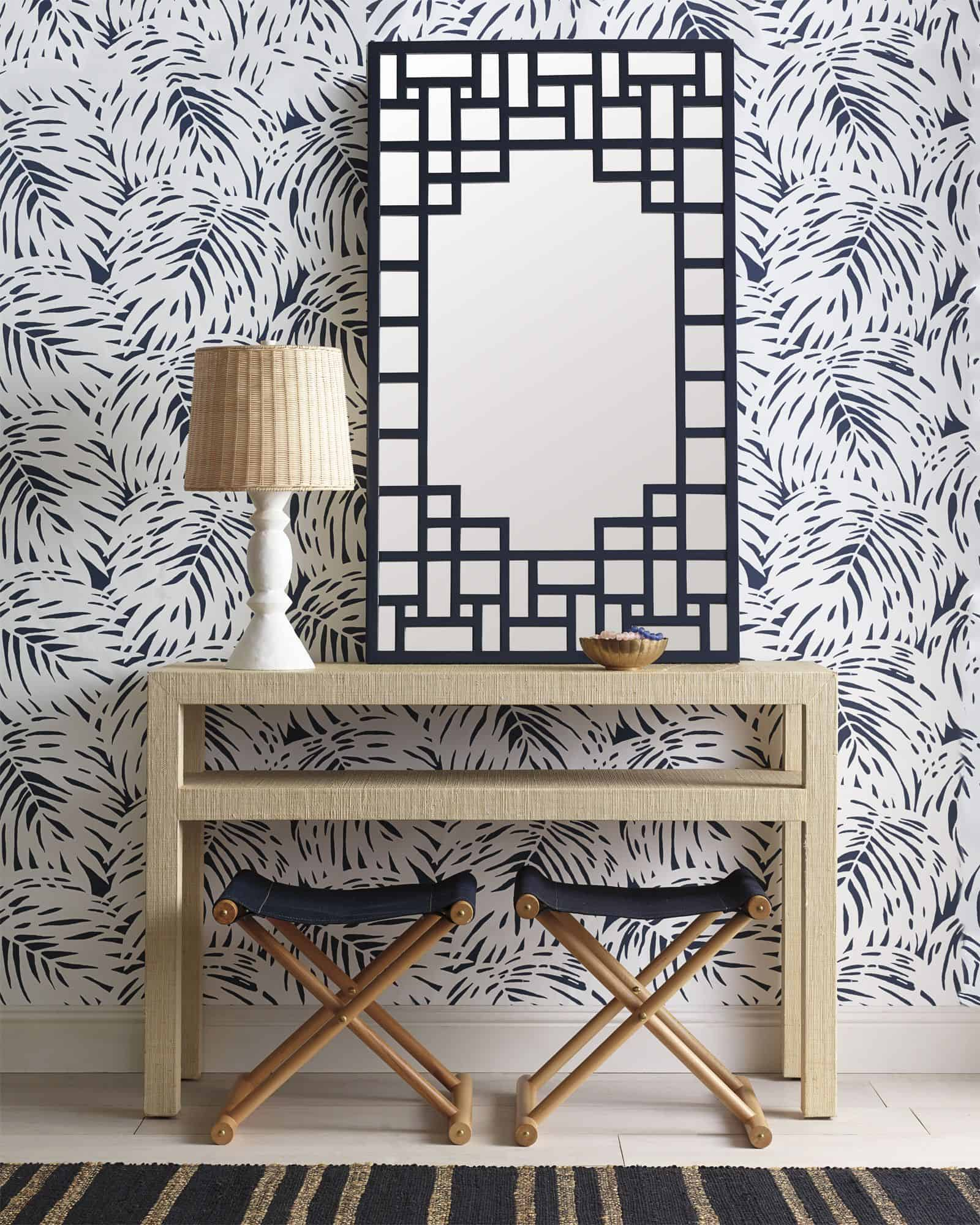 pattern wallpaper What's a foyer? And How exactly you should decorate it