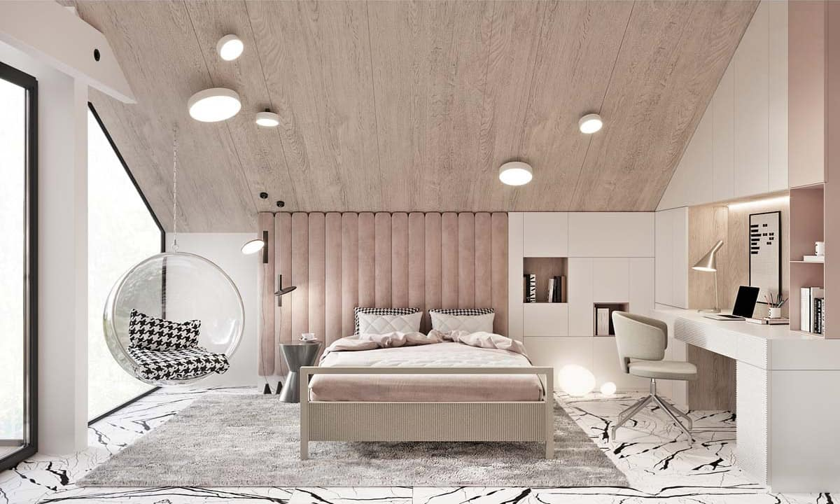 sleek bedroom