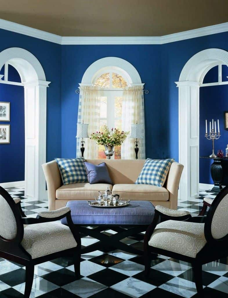 blue berry hue ins amll room Best Hues To Use In Small Spaces