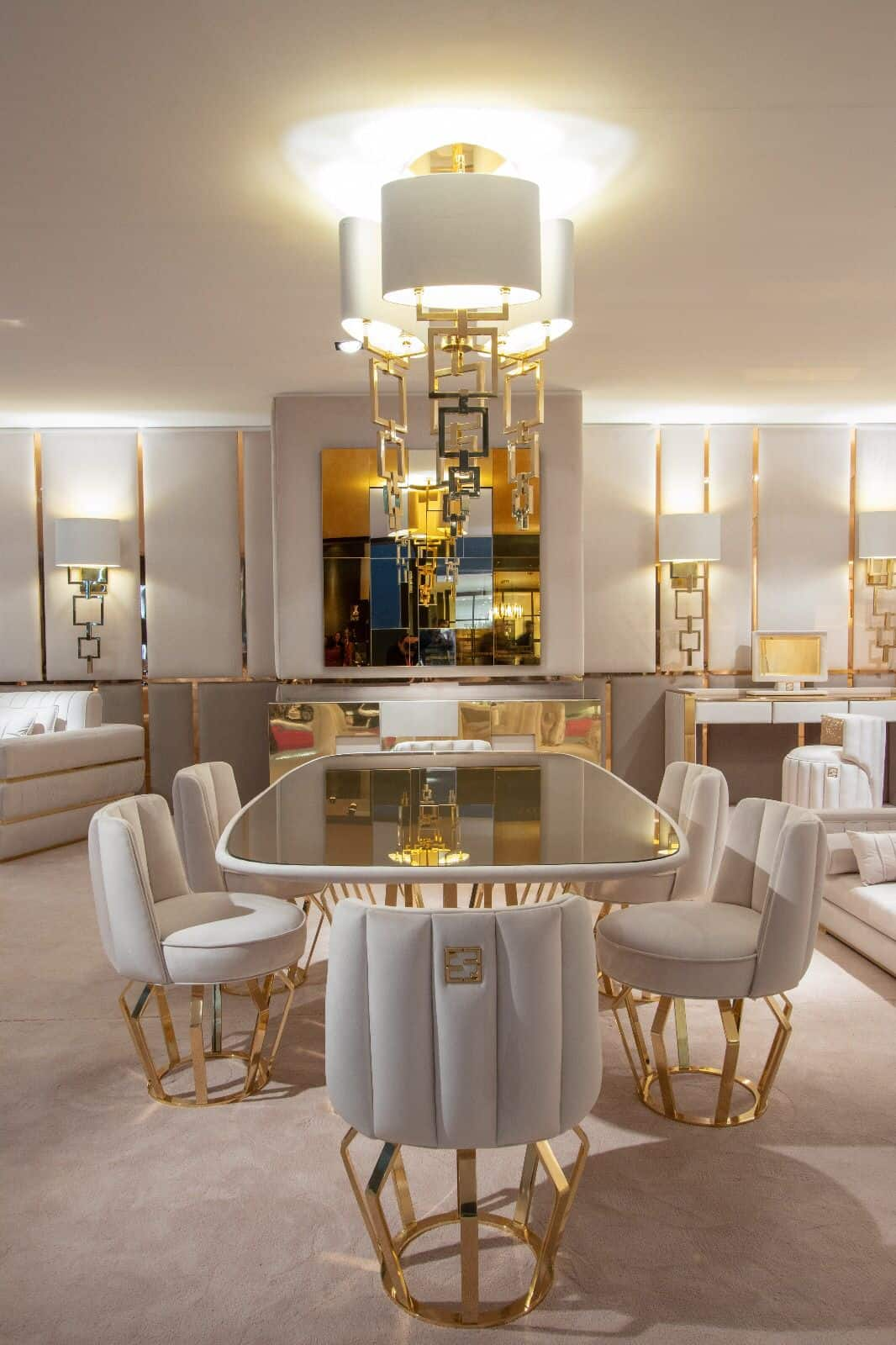 custom chairs in dining room