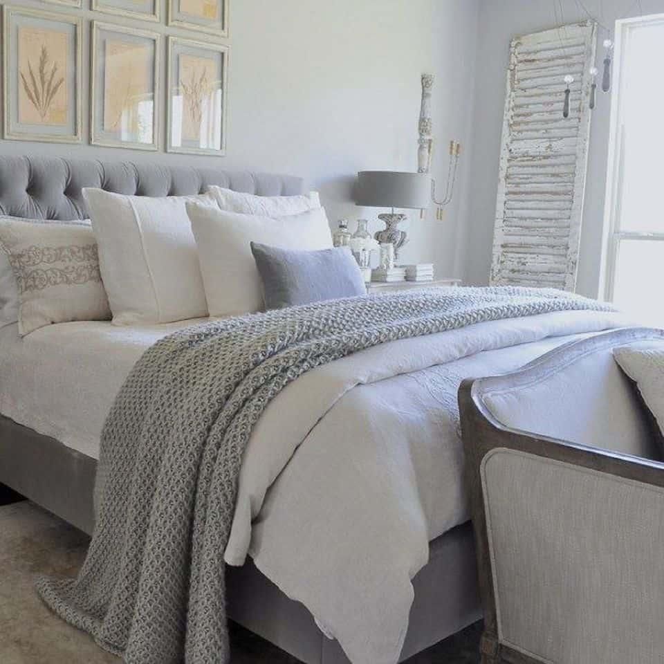 pastel gray in bedroom