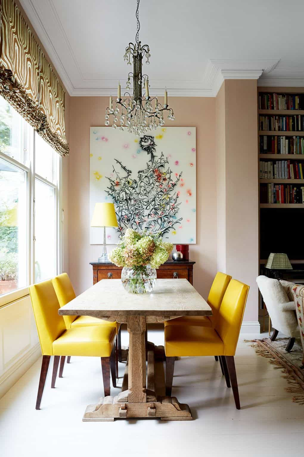 yellow in dining room