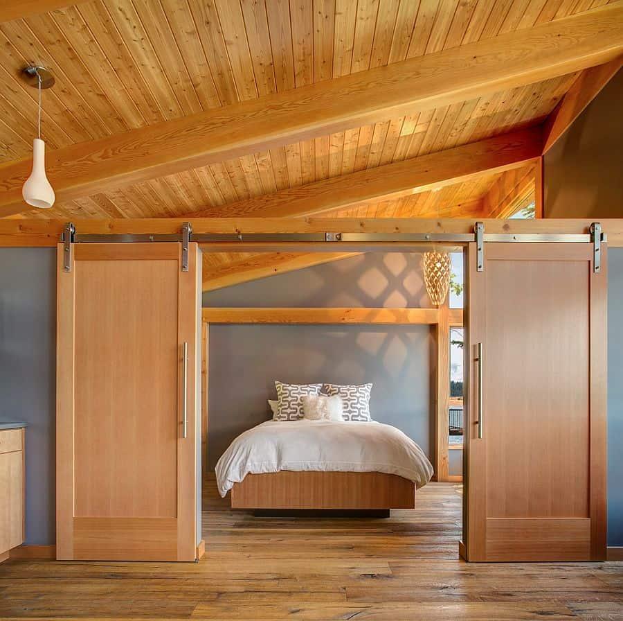 barn sliding doors in room