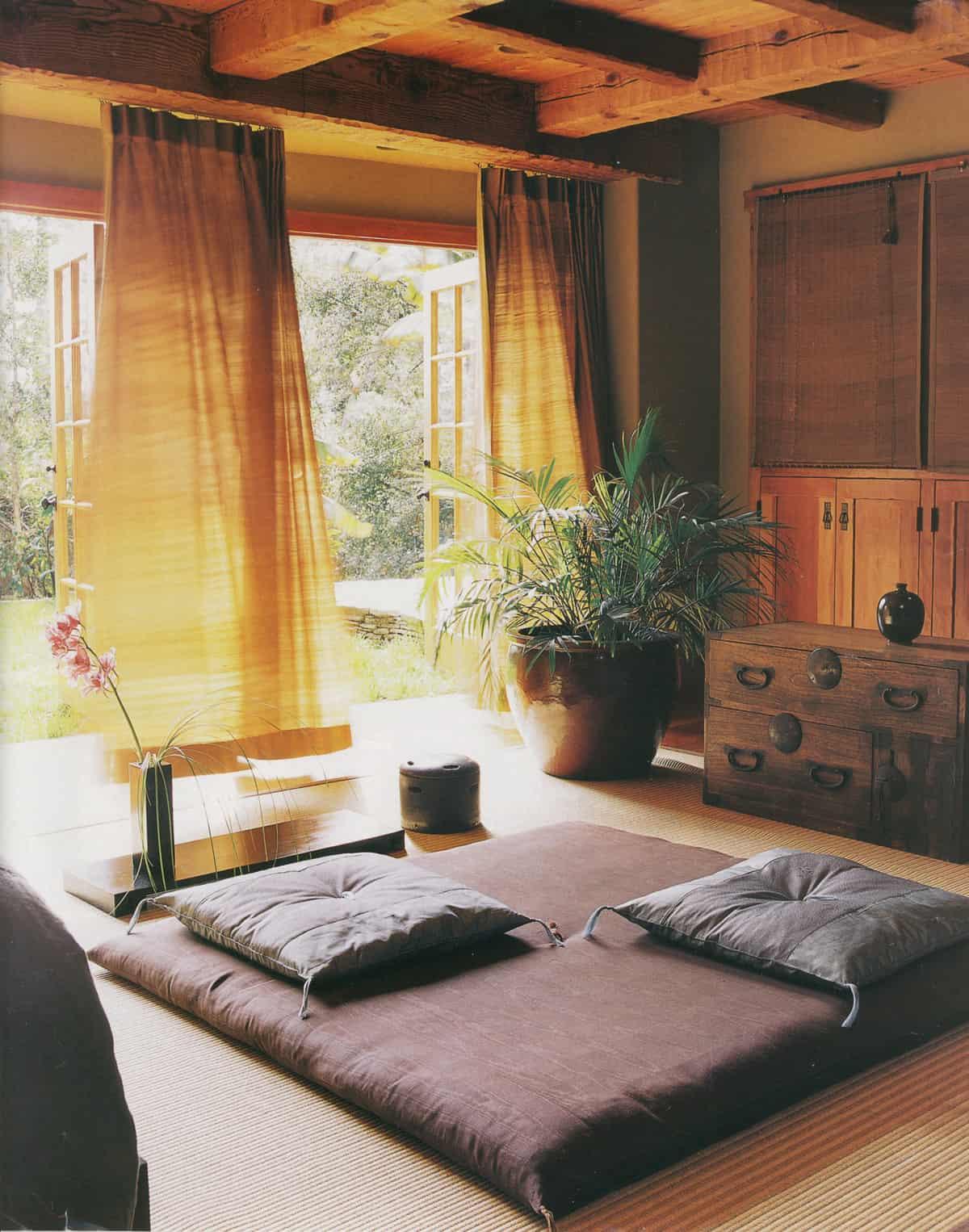 infront of window