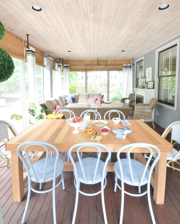 pale wood porch