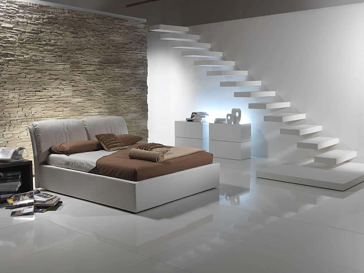 staircase in basement bedroom