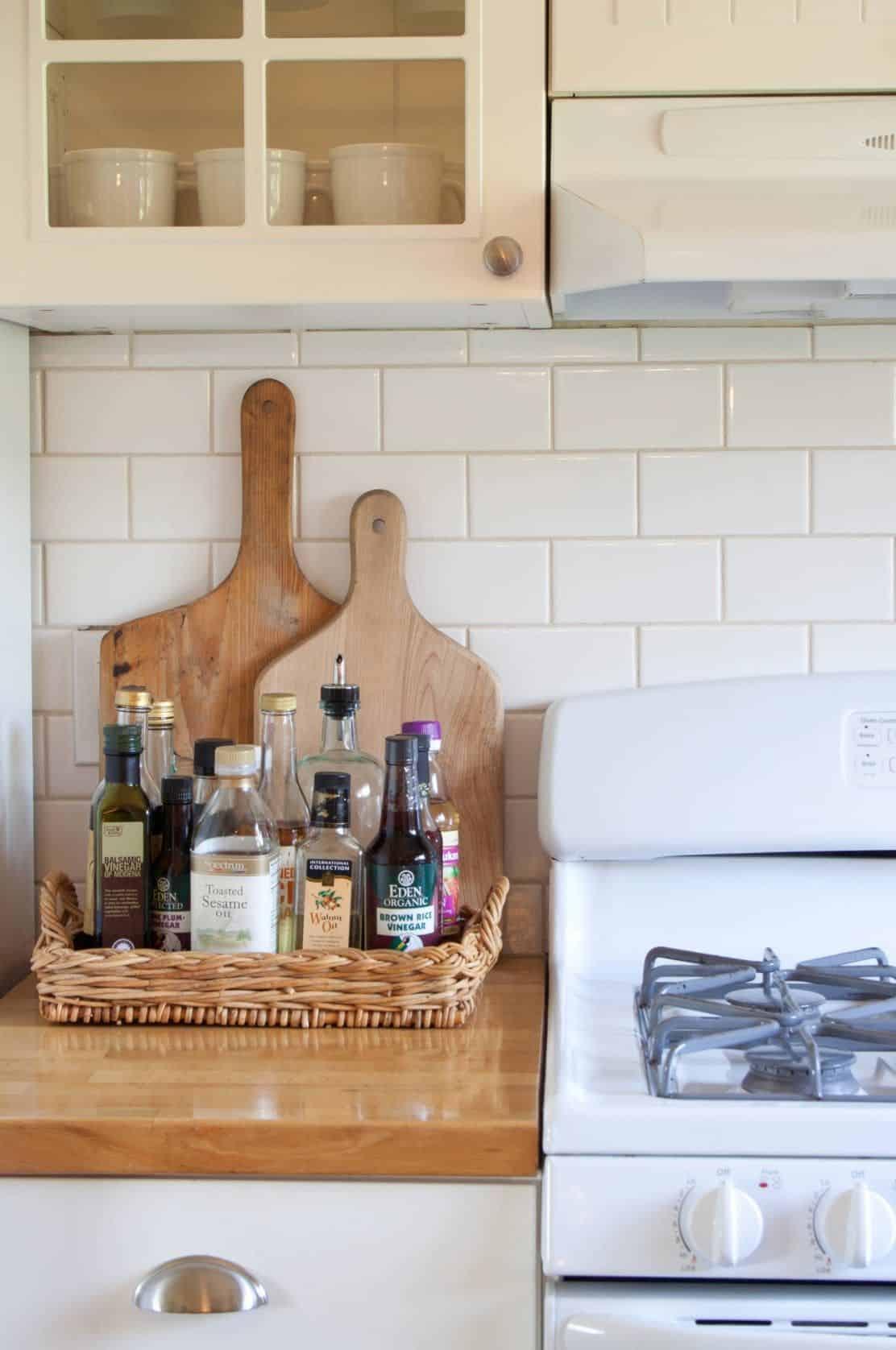 tray in kitchen