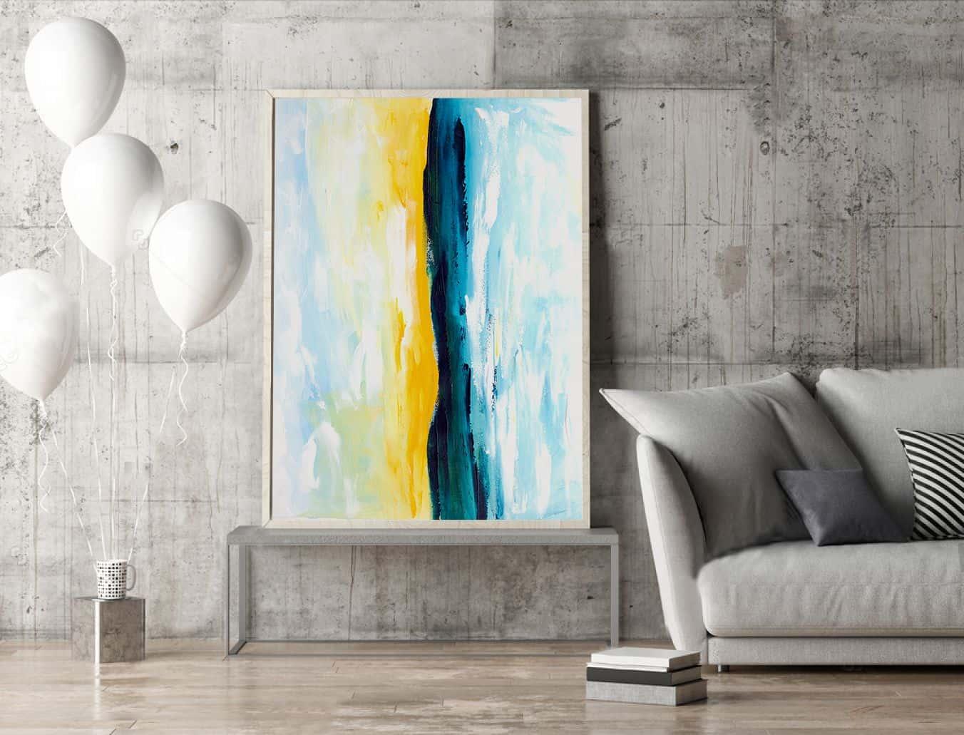 abstrat living room