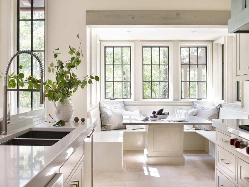 all- white kitchen