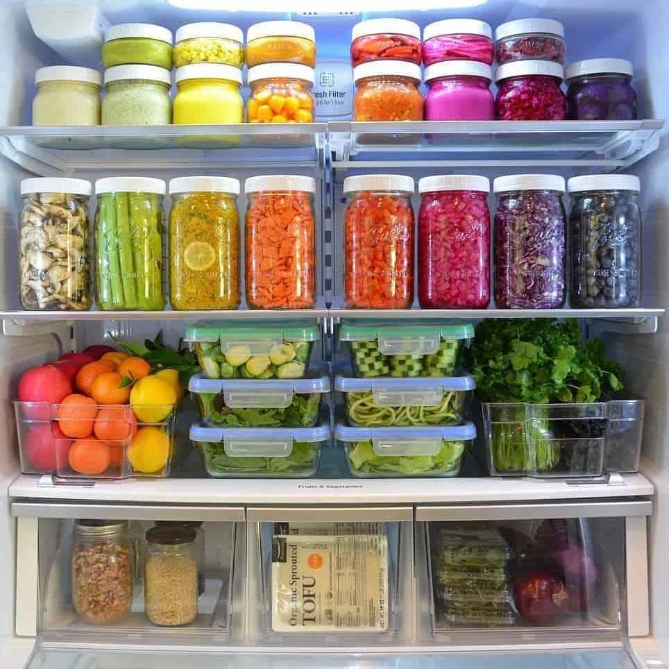 color in fridge