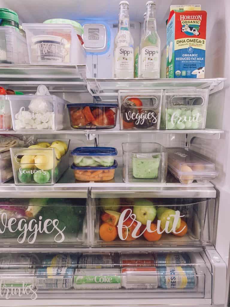 labels in fridge