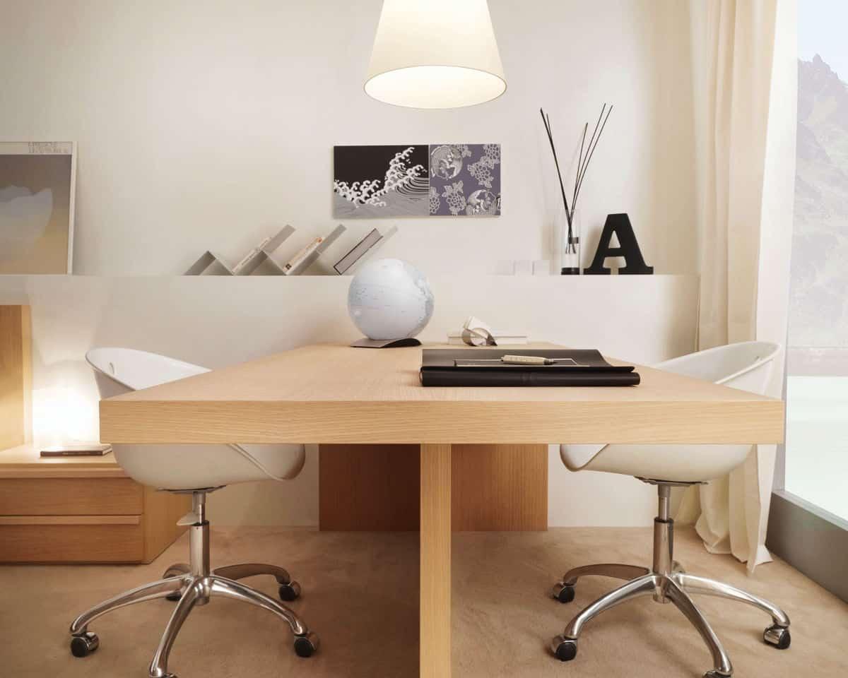 minimal office with stprage
