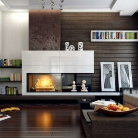 Invigorating Painted Brick Fireplace Ideas