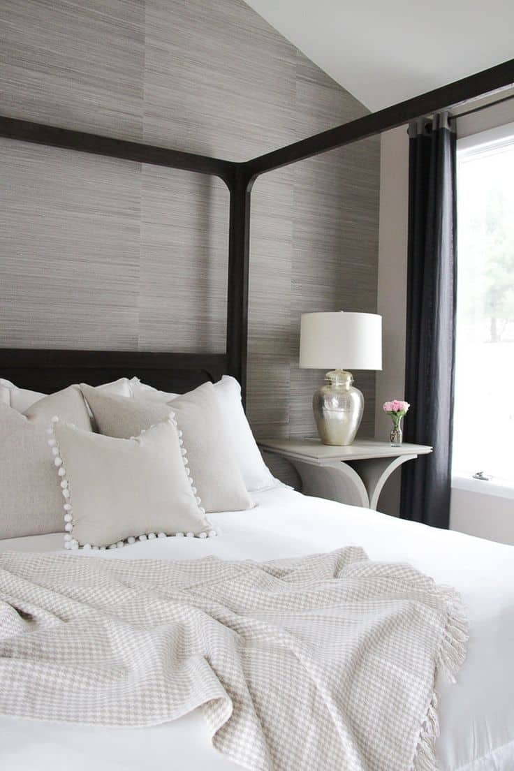 neutral texture wallpaper Bedroom Wallpaper ideas to Modernize your Bedroom