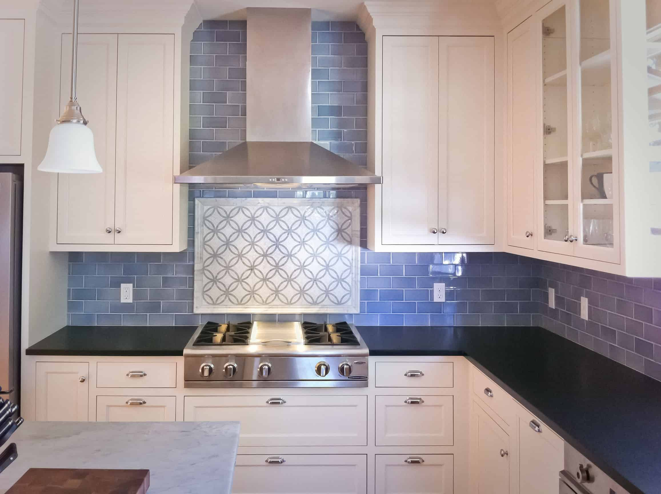 small kitchen with backsplash