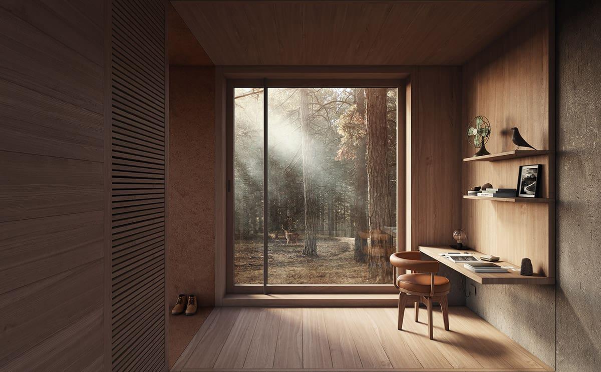 wood in room