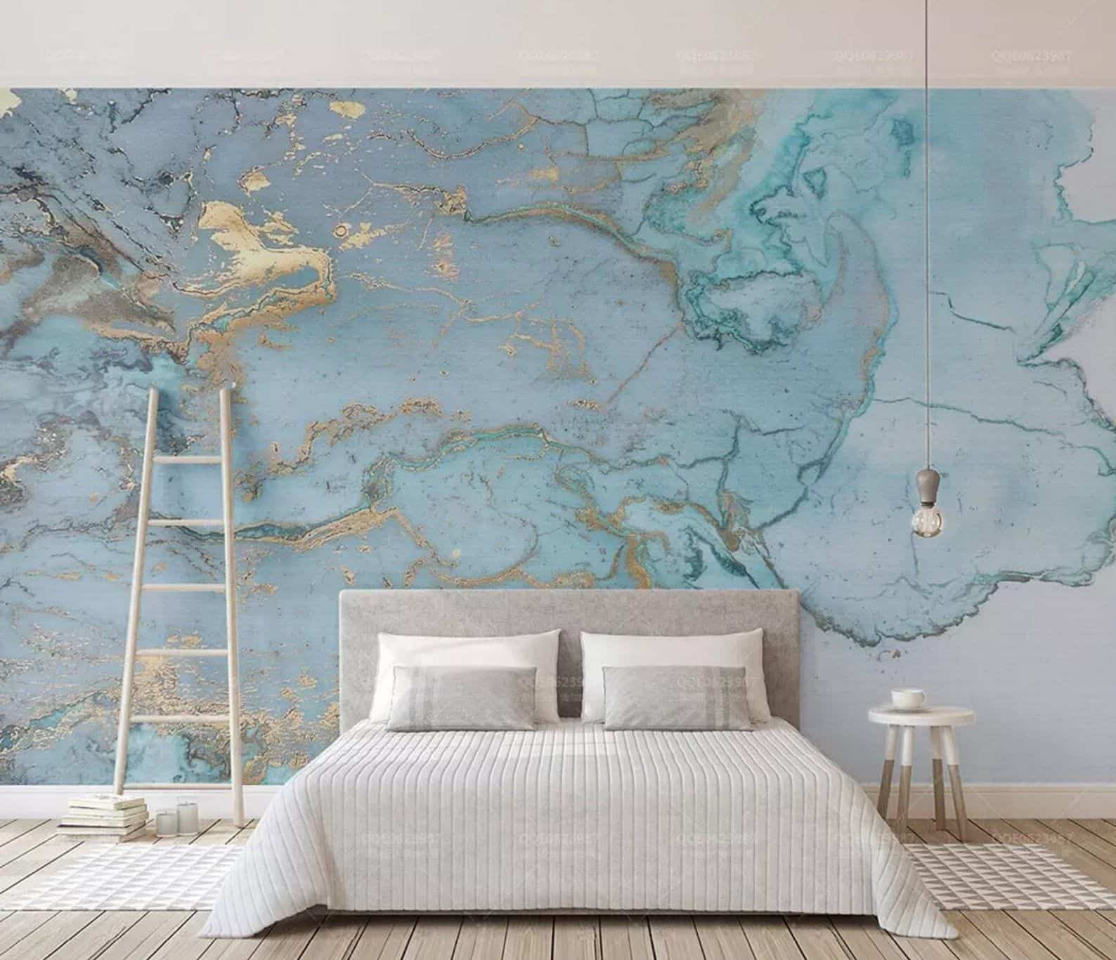 abstruct blue wallpaper Cool wallpapers that will enchant every room