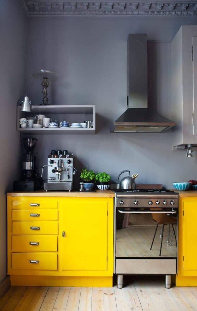 colroful cabinets