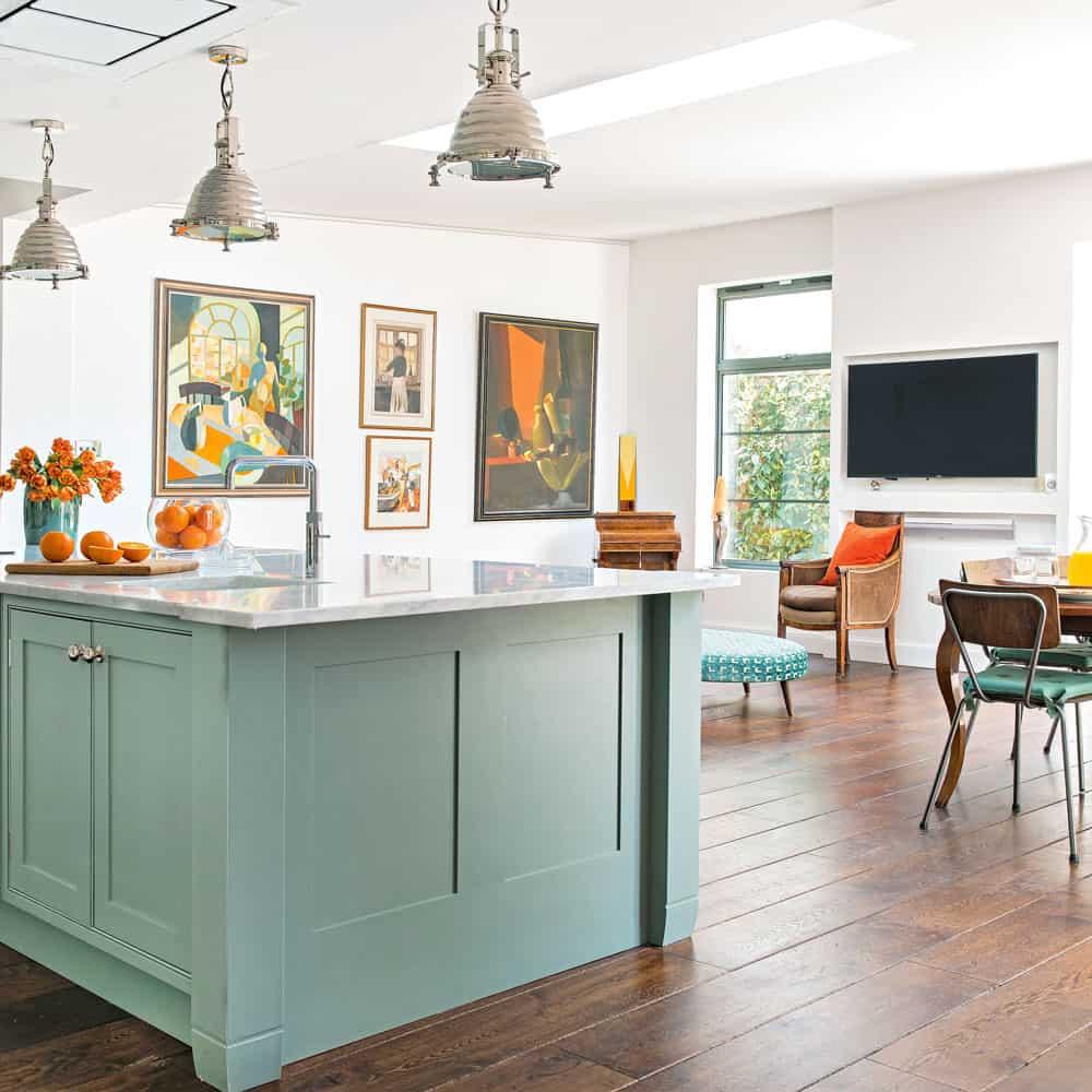 kitchen with artwork Cool Stress free Kitchen Updates for 2020