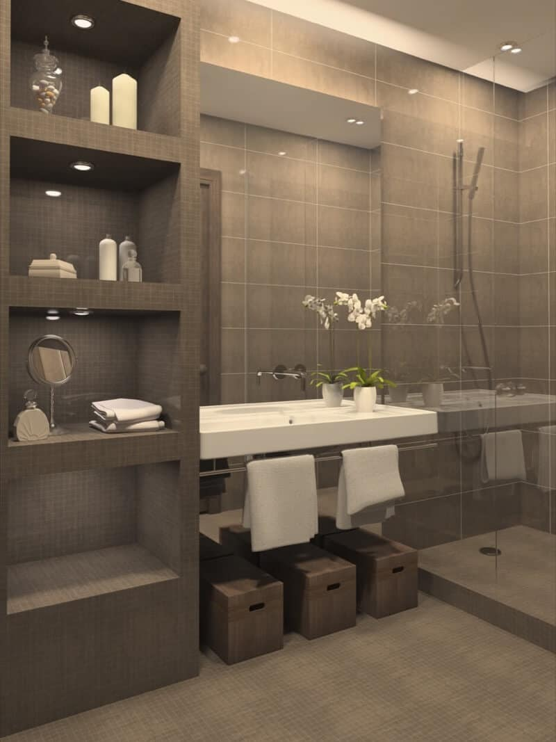 open shelving bajroom Smart bathroom shelving ideas to make your space feel larger