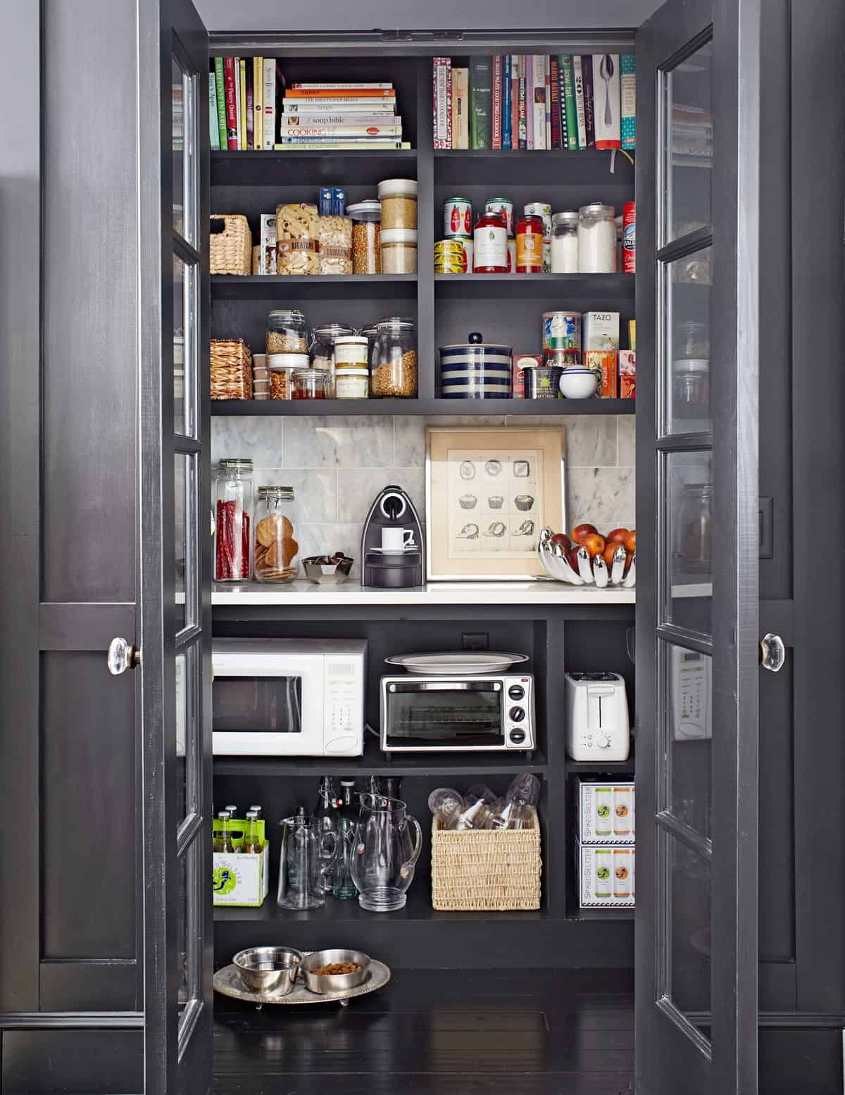 psntry french doors Invigorating Pantry Door Ideas   Smart Space Organization