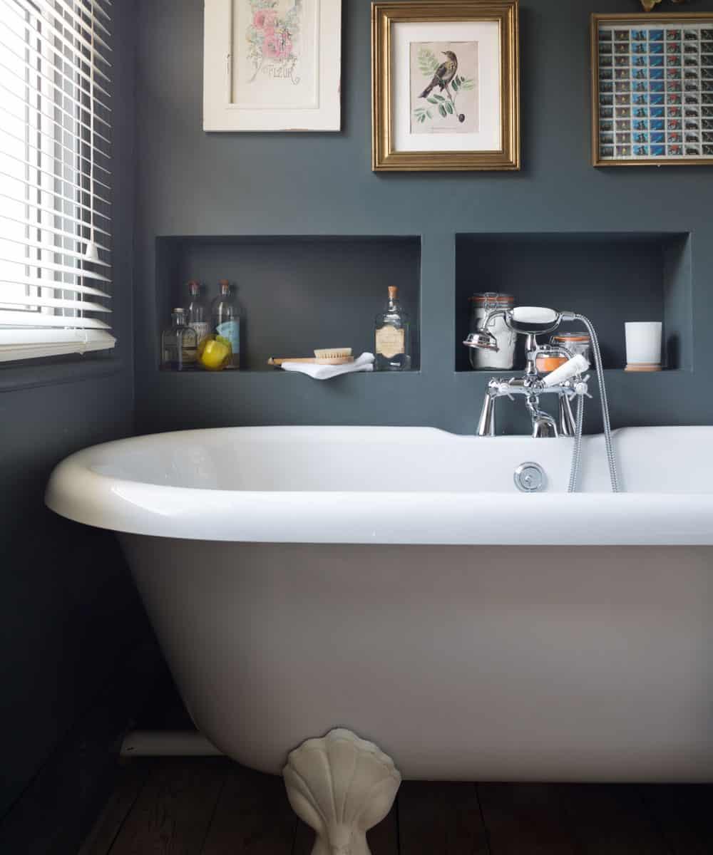 shelving above tub