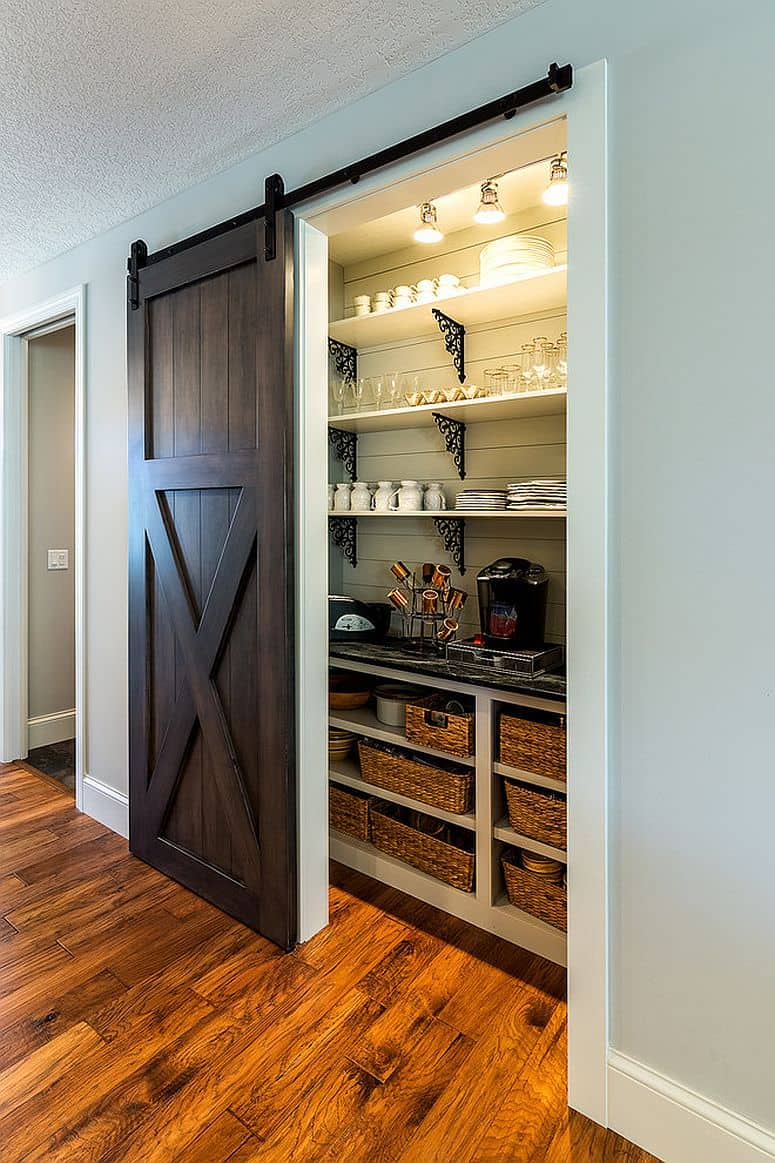 barn doors pantry