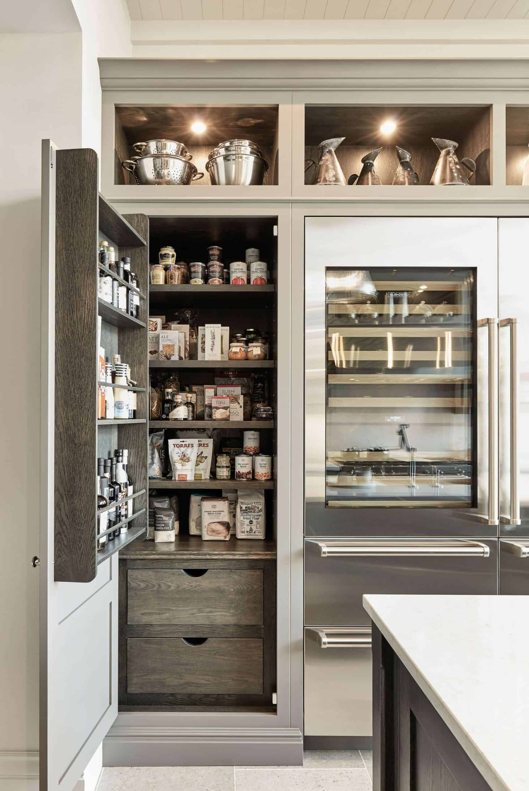 matching cabinets scaled Invigorating Pantry Door Ideas   Smart Space Organization