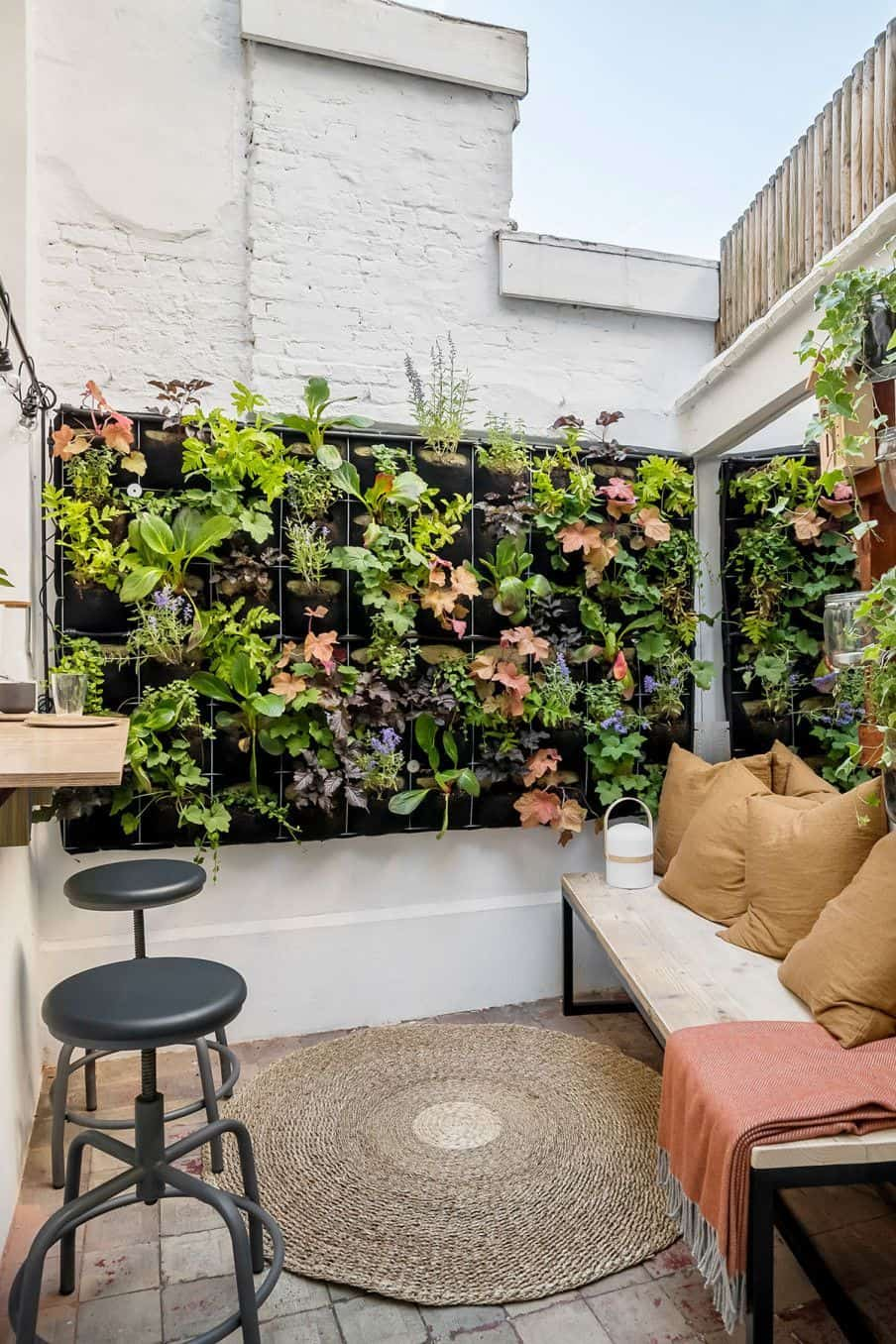 plant wall on display