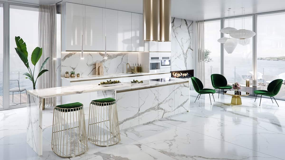 stools in kitchen