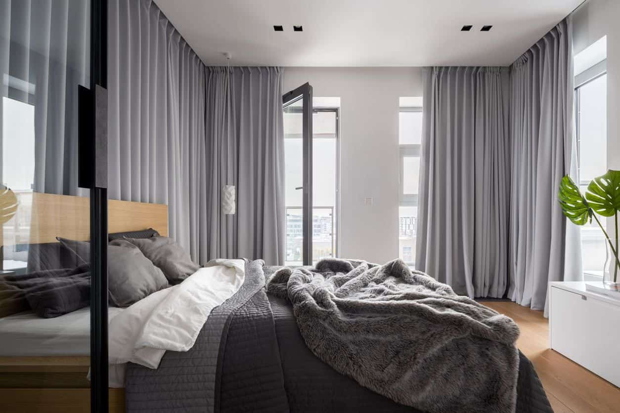 gray modern bedroom