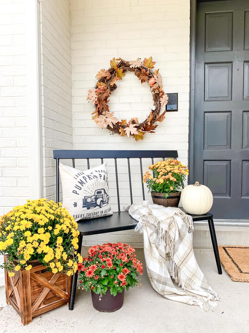 fall flower blend Updated Fall Porch Décor For 2020