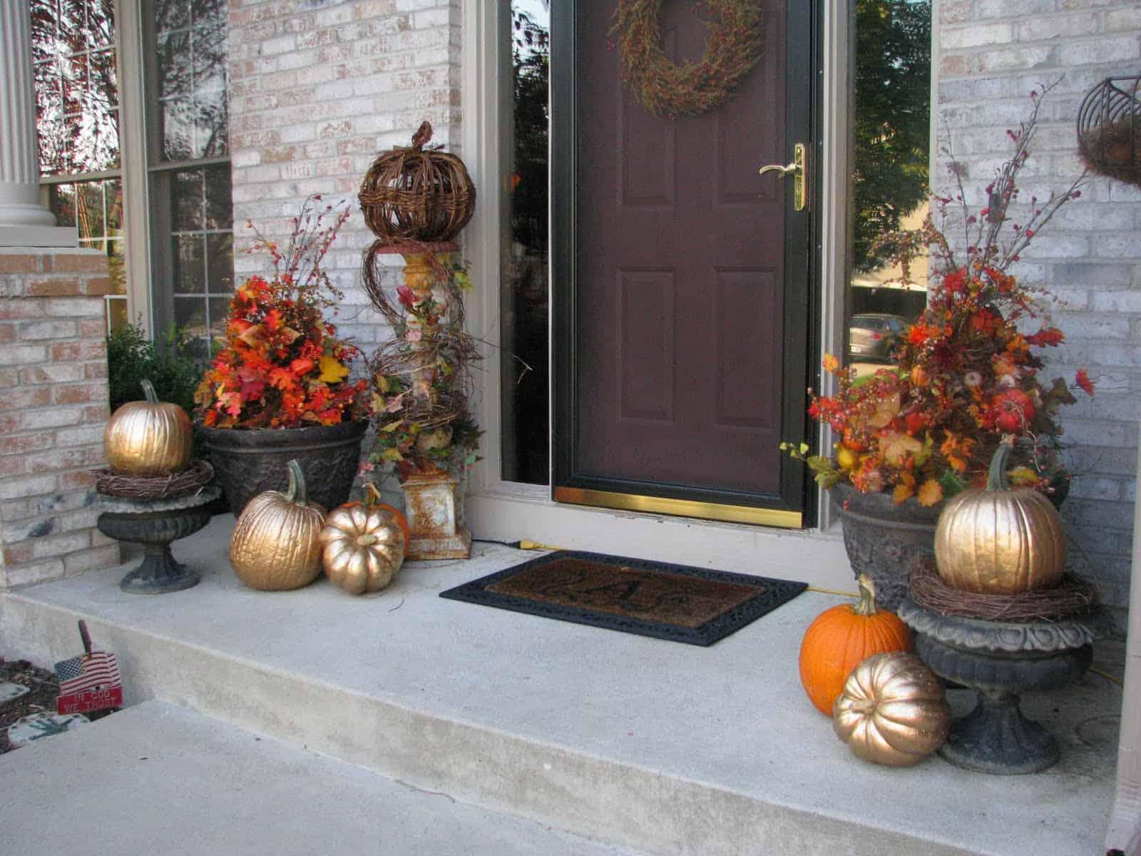 metallic fall pumpkin