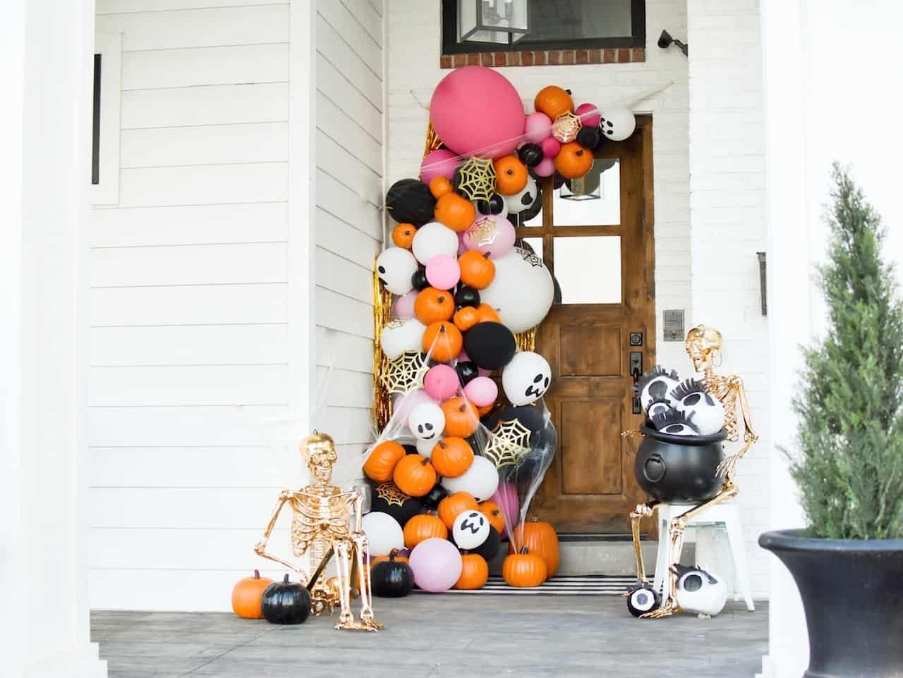 pumpkin arc display