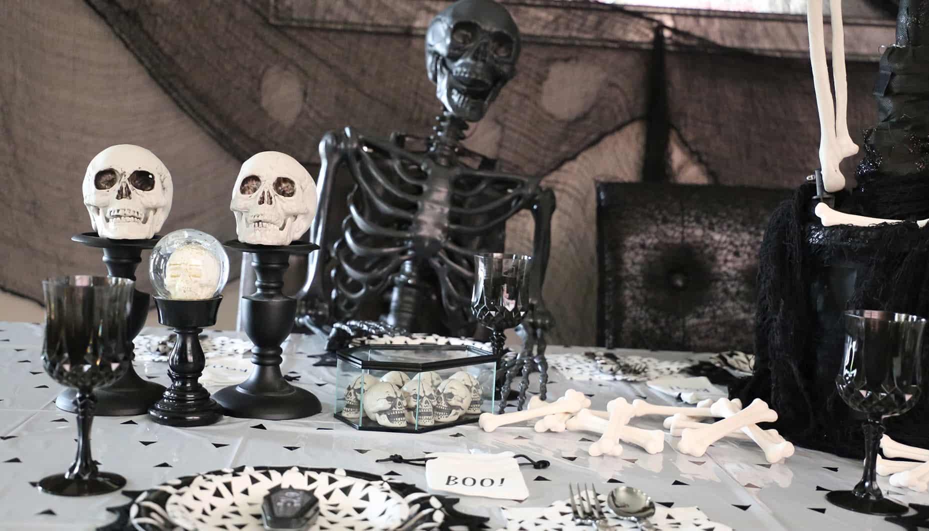 skeleton on table