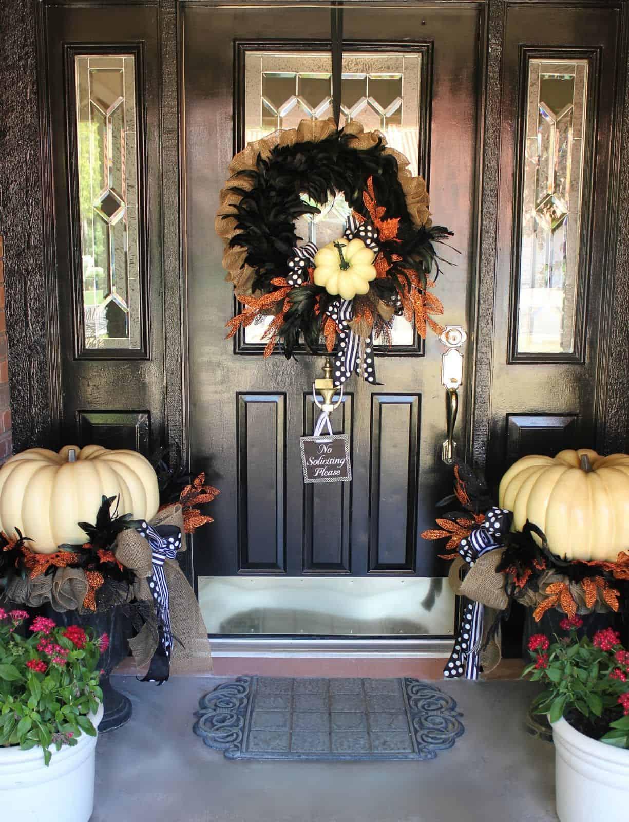 wreath on porch